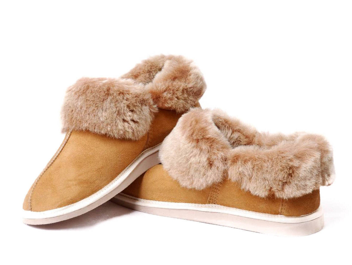 a534f0bdc61 Women s Sheepskin Slippers! High quality handmade fur slippers!  Ugg-inspired boots. gallery photo ...