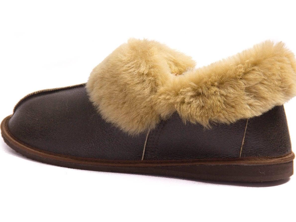83146a5077fd5 Mens Leather Sheepskin Slippers Jungle! High quality handmade fur ...