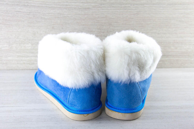 5dbfad6710e63 Women's light blue Genuine Sheepskin Slippers!