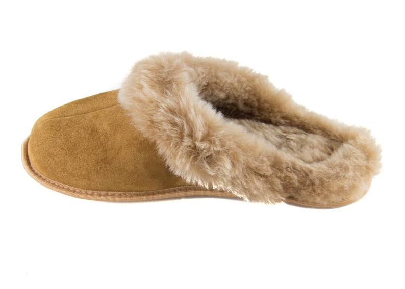 4872a918c8fef Ladies Shearling Slippers leather sole, Women's Sheepskin Slippers! 100%  leather fur!