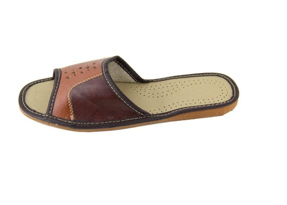 5aaceaebf7015 Mens natural leather slippers! Everyday Slippers! open toe slippers,  natural leather, summer, everyday slippers