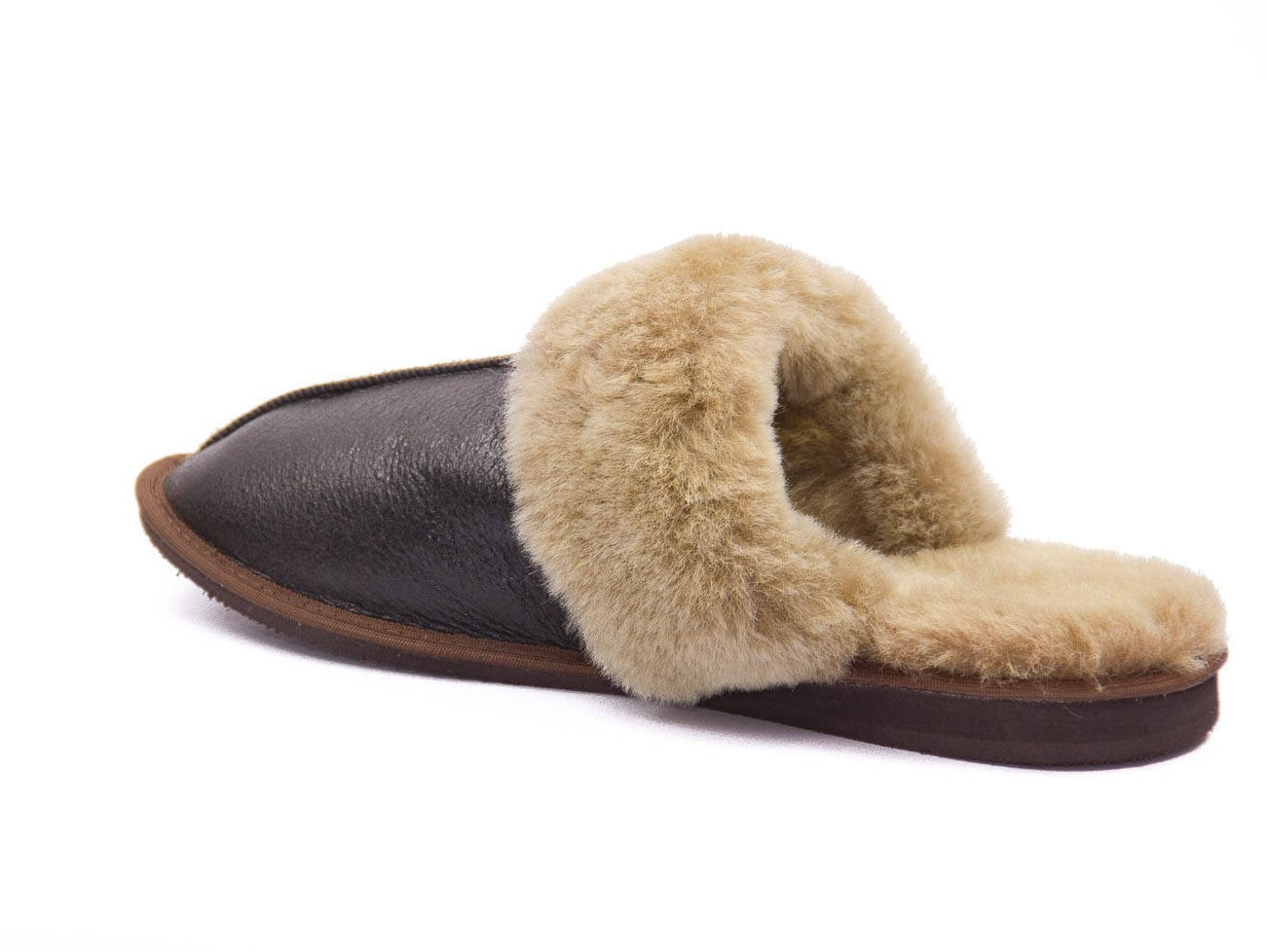 3e838d644e019 Men's leather sheepskin slippers! Really elegant and classic ! High ...