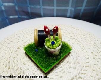 """Vintage Cotton Reel"""" a 5cm x 5cm """"Tile Miniature"""""""