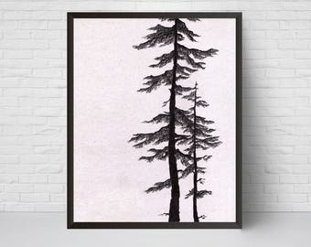 Pine Tree Art Etsy