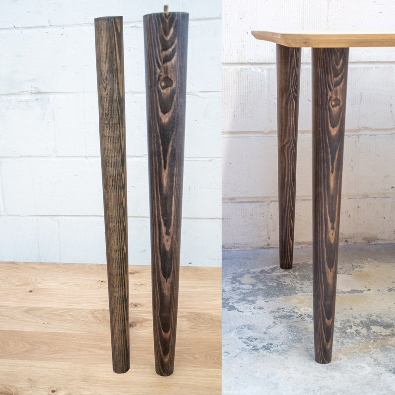 Solid Wood Furniture Legs Chunky Table Legs 80mm Top Etsy