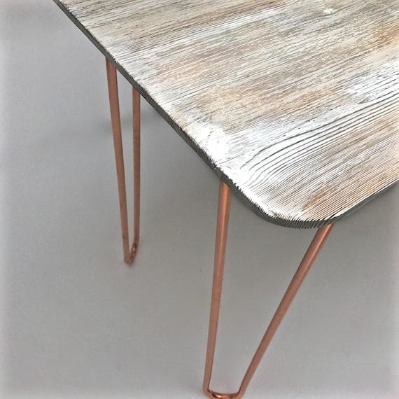 Massivem Holz Draht Gebürstet Und Gekalkt Kiefer Tisch Mit | Etsy