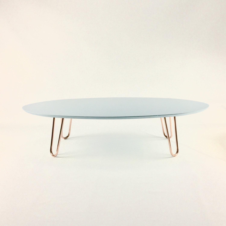 Coffee Table With Copper Legs Light Bluewhiteorangeblack