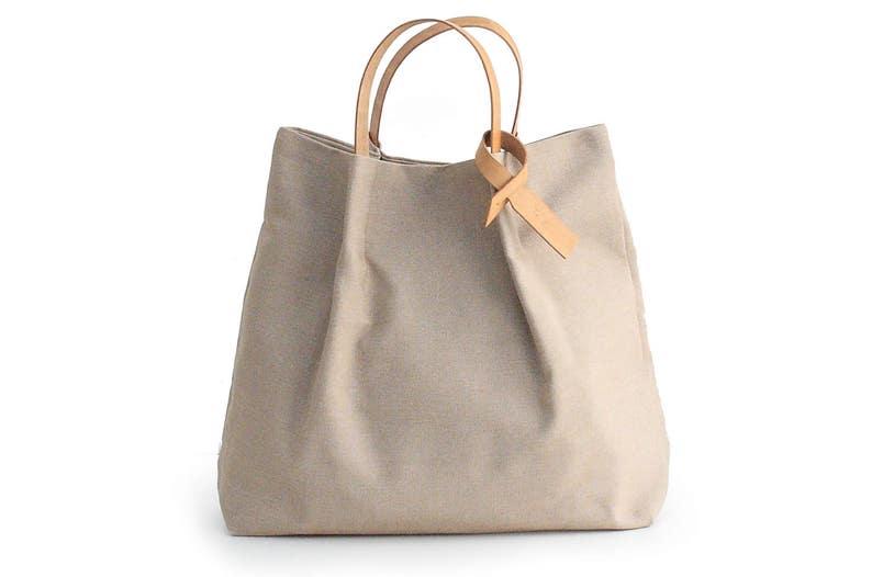 6203d7e89c86a Tasche Canvas und Leder Tasche Handtasche in italienischer