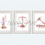 Justice symbol Set of 3 Lady Justice print Scales of Justice art Gavel poster Law office decor Themis goddess Judge office art Attorney S85