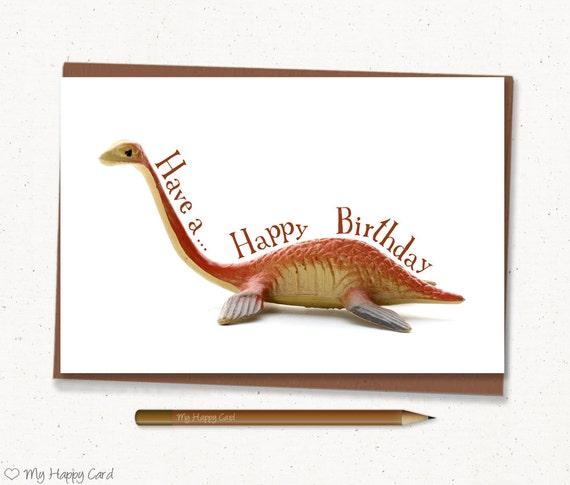 graphic about Dinosaur Birthday Card Printable known as Dino birthday card - Printable - 4\