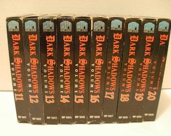 10 Dark Shadows VHS Tapes 11-20 Barnabas Collins, Free Shipping