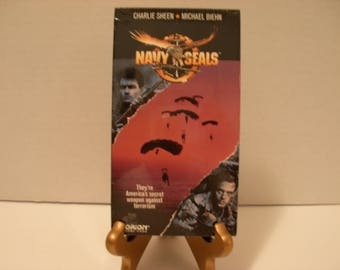 VHS Tape, Navy Seals, SEALED, Charlie Sheen, Michael Biehn, Color, Free Shipping