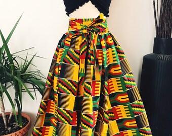 41bf08192c Ghana   African Print Midi Skirt