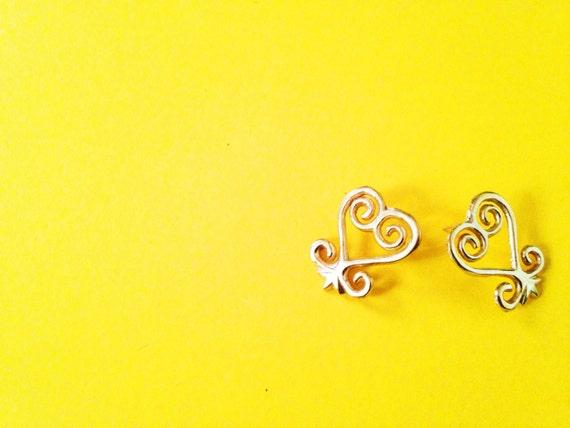 Sankofa Adinkra Stud Earrings African Symbol Earrings Etsy