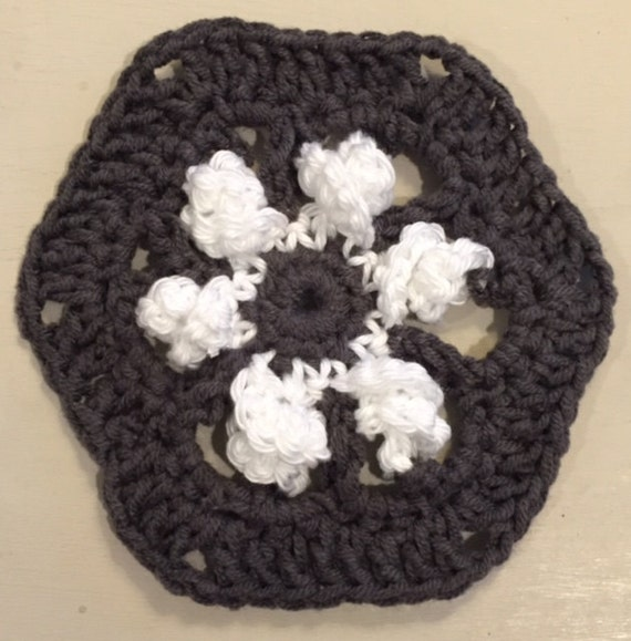 Spiral Crochet Blanket Hexagon Motifs Pdf Helix Afghan Etsy