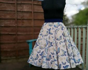 Pinup skirt/vintage style skirt/circle skirt/swing skirt/fifties skirt/50s skirt/full skirt/midi skirt/CUSTOM MADE