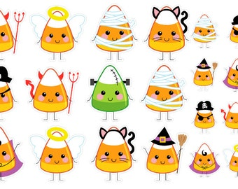 Candy Corn Trick or Treaters (planner stickers)