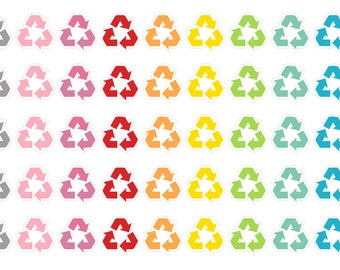 Recycle Stickers (planner stickers)