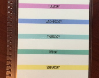 Laminated Meal Planner Dashboard (for use in coil planners)