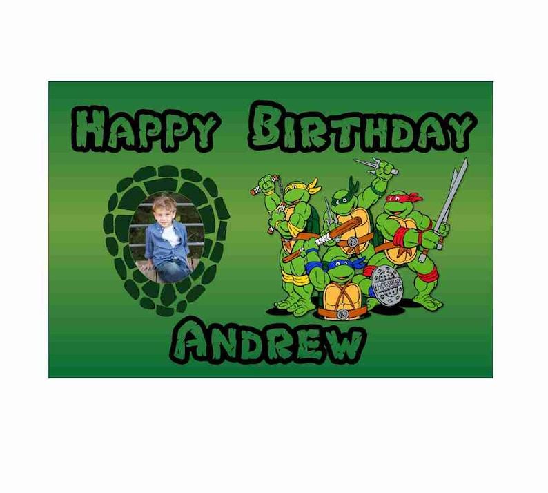Personalized Ninja Turtle Birthday Banner