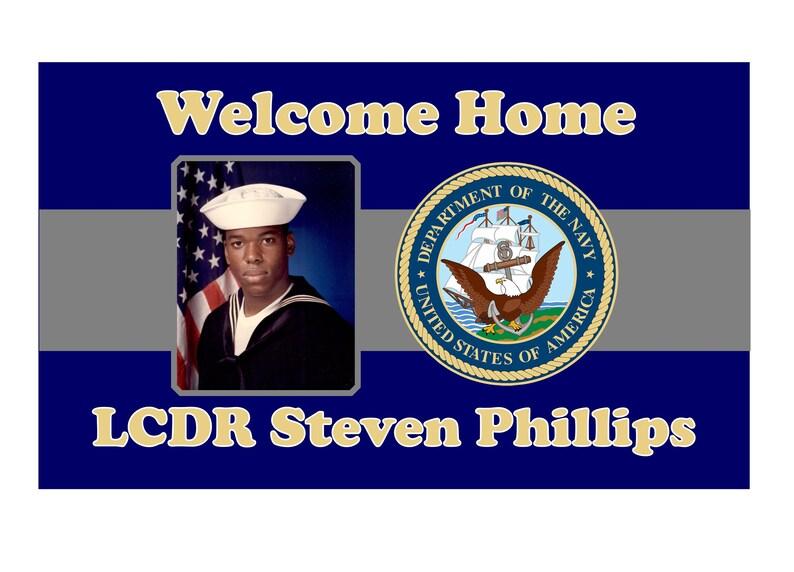 Congratulatory or Welcome Home NAVYGraduation Banner