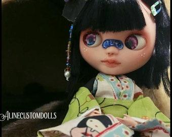 Blythe Basaak (fake) custom doll OOAK Keiko