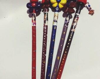 Sailor Moon handmade pencils kawaii anime crafts