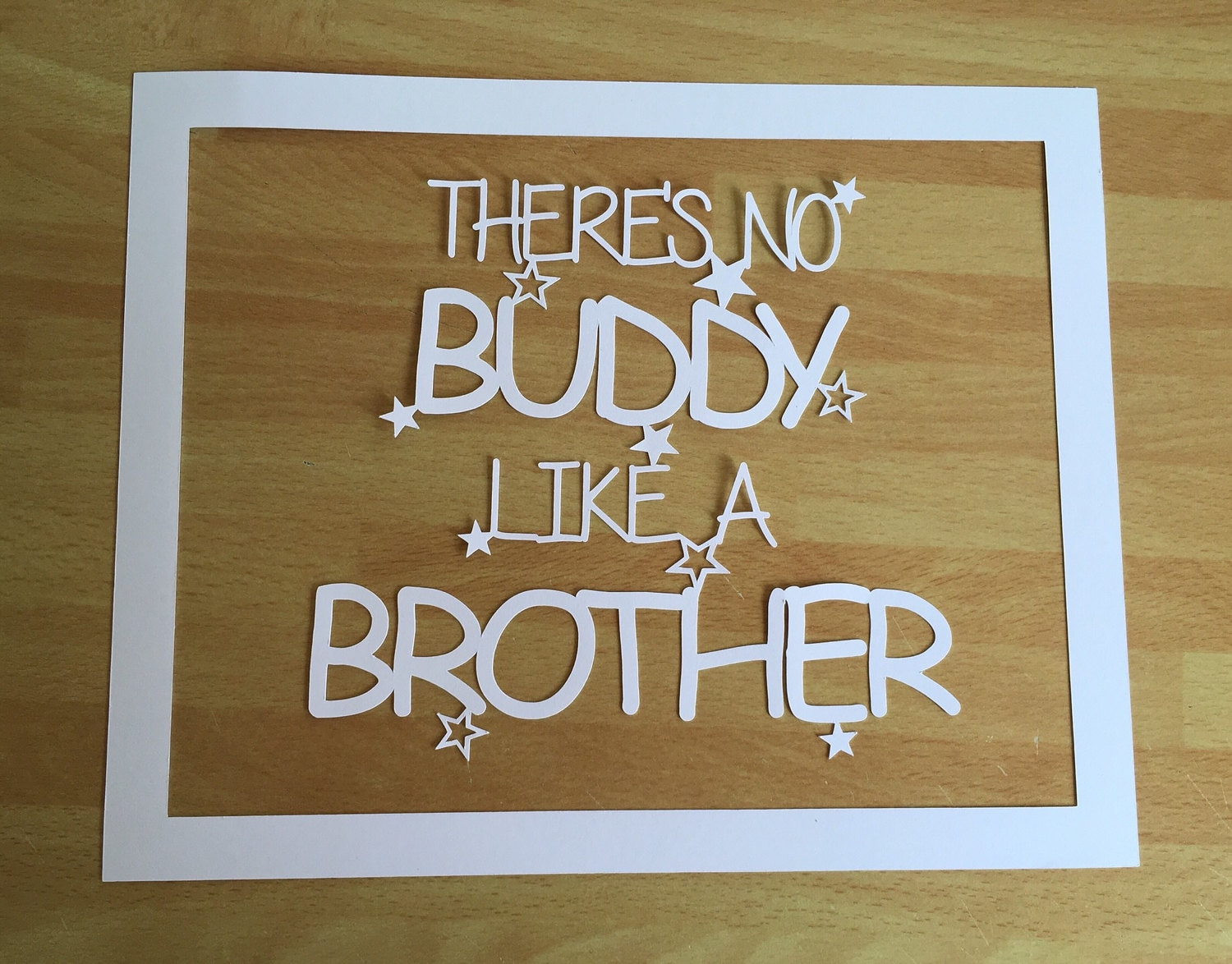 Big brother gift Big brother papercut big brother frame | Etsy