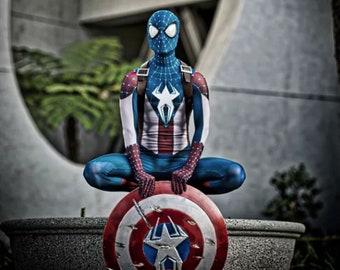d0f72e5d7de0 Replica costume - Spider man   Captain America mash up ( READ DESCRIPTION )  .