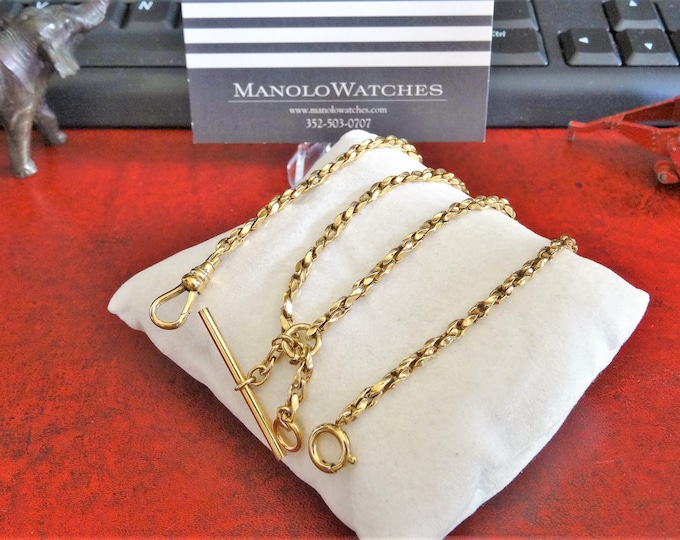 Vintage 1/20 12K Gold Filled Pocket Watch Chain 15.35 grams!