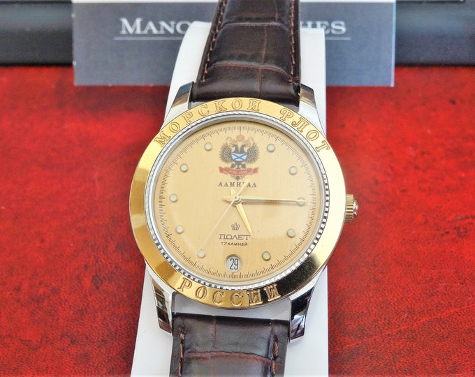 Vintage Aamhpaa Hand Winding 17-Jewels Men's Watch w/ 20mm Hadley Roma Band!