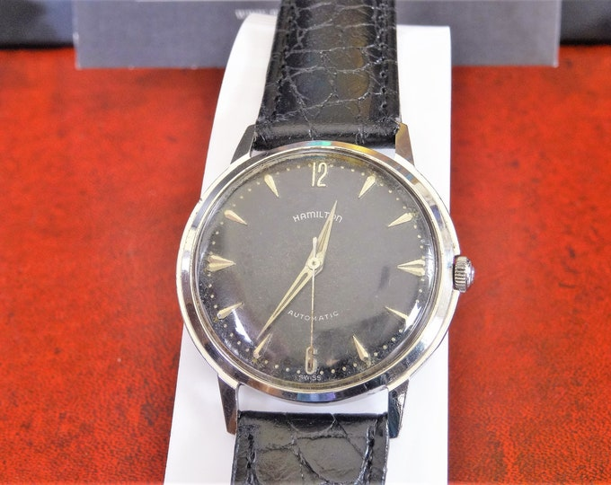 Vintage 1960's Hamilton Automatic Waterproof Men's Watch w/ Hadley Roma Band!