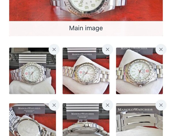 Wenger Swiss Military 100M W.R. Rotating Bezel Date Men's Watch w/ 20mm SS Band!