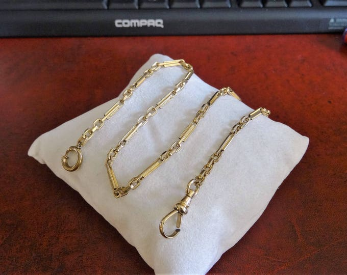 Antique Gold Filled 9.84 Grams Pocket Watch Chain!