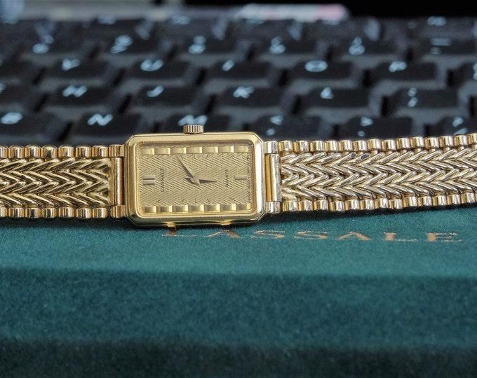 Vintage Lassale Quartz Gold Tone Ladies Watch w/ Lassale Case & 11mm Gold Tone Band