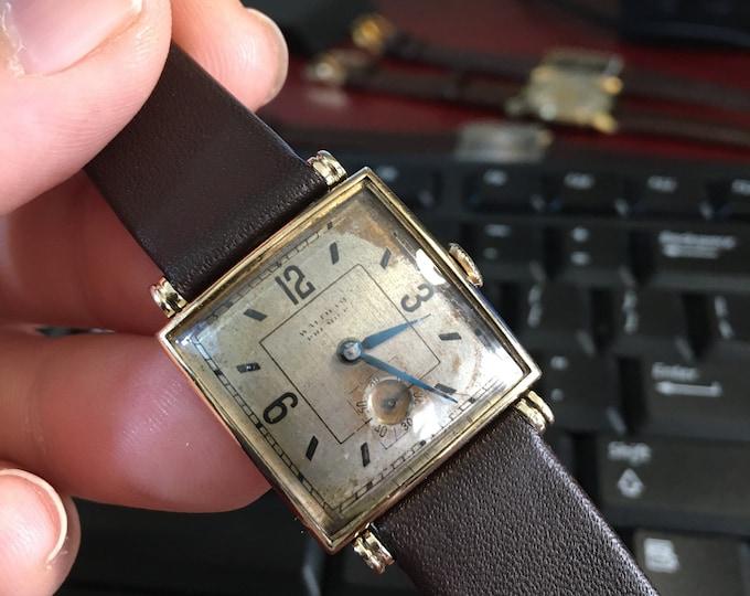 Vtg Waltham Premier Sub-Dial Watch
