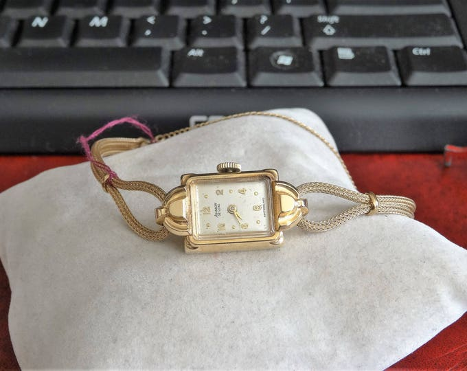 Vintage Avalon Deluxe 14K Gold Swiss Ladies Watch with 1/40 10K R.G.P. Band!
