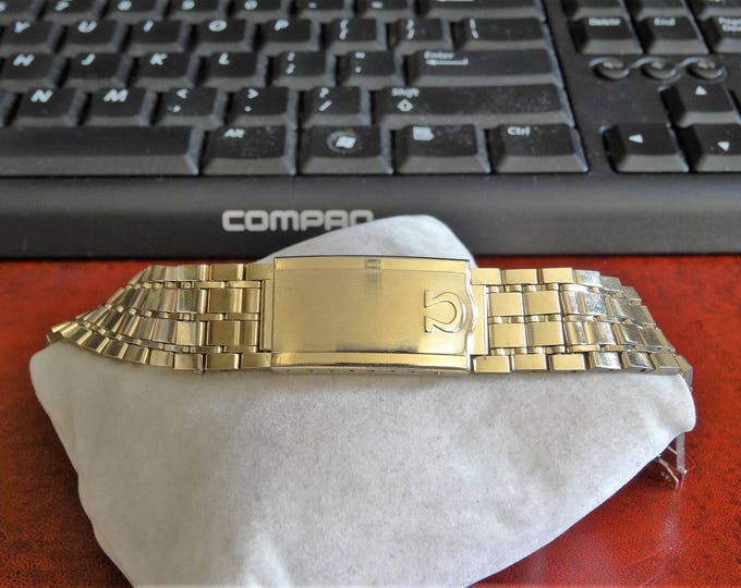 Vintage 1960's Omega 10K Gold Filled 16mm Wristwatch Band!