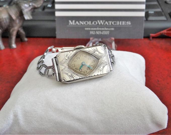 Antique Art Deco Elgin G.F. Hand Winding Ladies Watch w/ 1/20 12K G.F. Top Band!