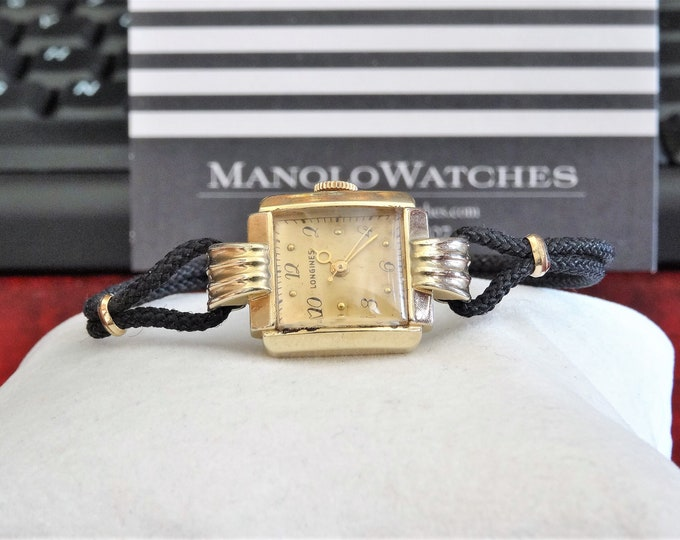 Vtg Longines 14K Gold Filled Hand Winding Ladies Watch w/ 1/20 10K G.F. Buckle!