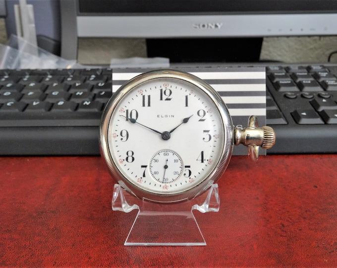 Antique 1914 Elgin Model 4 Size 18s 15-Jewels 17787641 Pocket Watch!