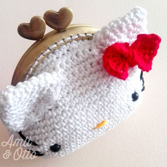 Hello Kitty Purse Coin Crochet Pattern | Etsy