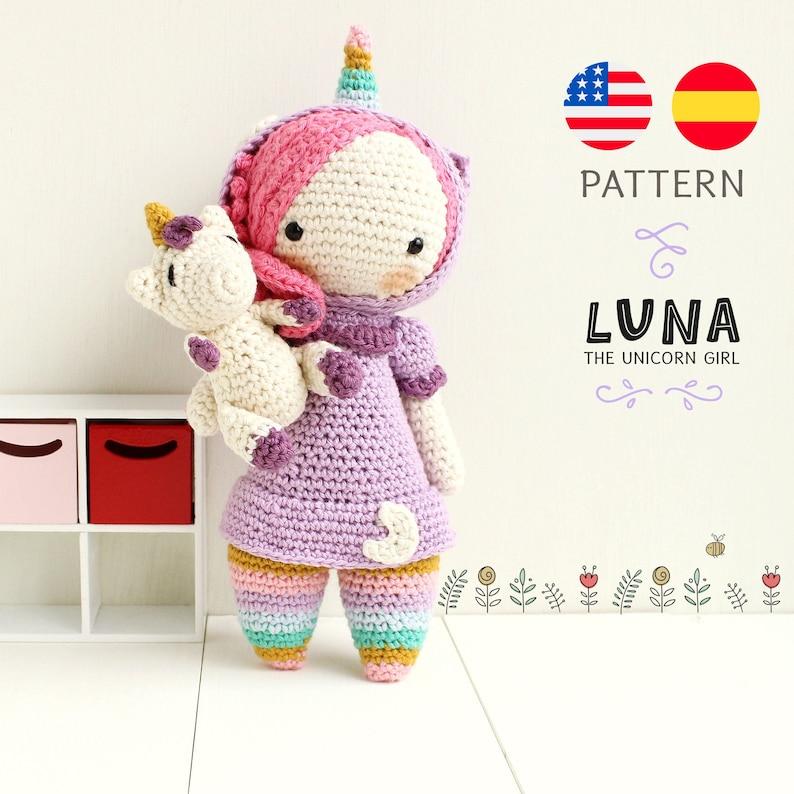 Luna Unicorn Amigurumi Pattern  Lulu Loop image 0
