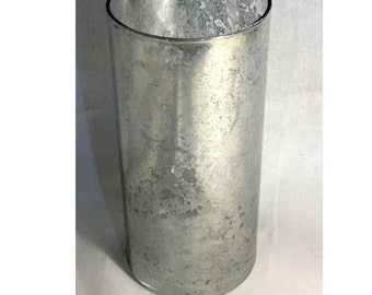 Mercury Glass Vase Cylinder, Wedding Table Centerpiece, Home Decor, Silver