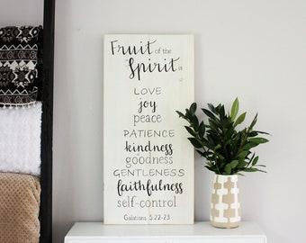 Wooden Sign Fruit Of The Spirit Etsy