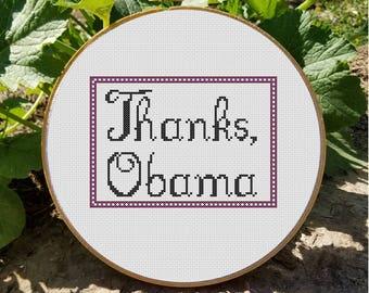 Thanks, Obama Cross Stitch Pattern