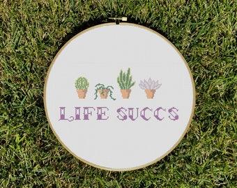 Life Succs Cross Stitch Pattern