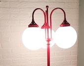 Unique Retro Standing Bulbs Lamp Red Vintage