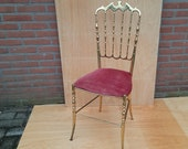 Brass Chiavari chair