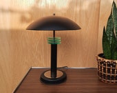 Vintage Metal Table Lamp, Hollywood Regency Style, 80s